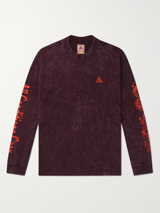 NIKE ACG NRG Logo-Embroidered Printed Tie-Dyed Cotton-Jersey T-Shirt