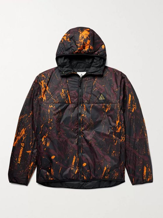 NIKE ACG Rope de Dope Logo-Print Padded Shell Hooded Jacket