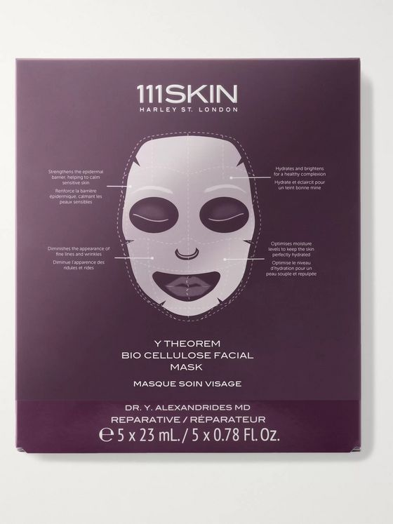 111SKIN Y Theorem Bio Cellulose Facial Masks, 5 x 23ml