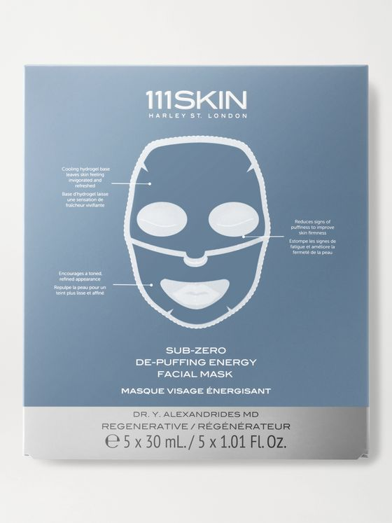 111SKIN Sub-Zero De-Puffing Energy Facial Masks, 5 x 30ml