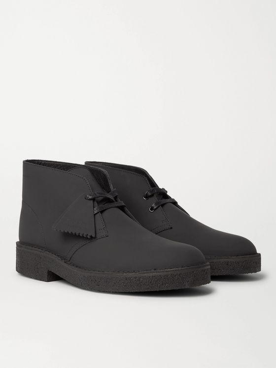 CLARKS ORIGINALS Matte-Leather Desert Boots