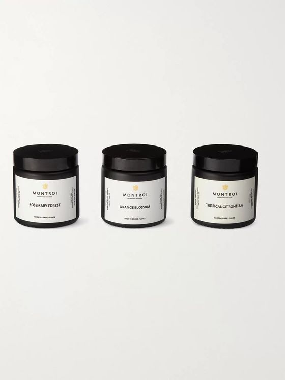 MONTROI Scented Travel Candles, 3 x 80g