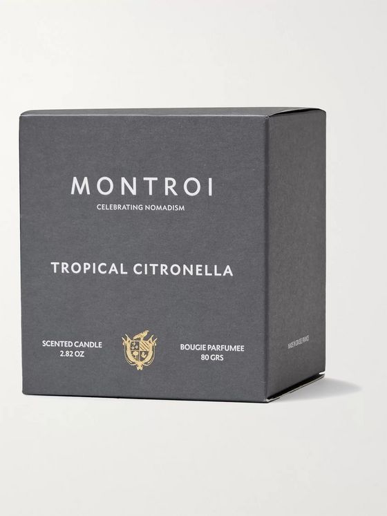 MONTROI Tropical Citronella Scented Travel Candle, 80g