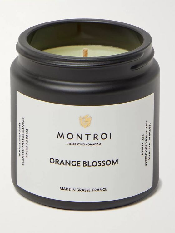 MONTROI Orange Blossom Scented Travel Candle, 80g