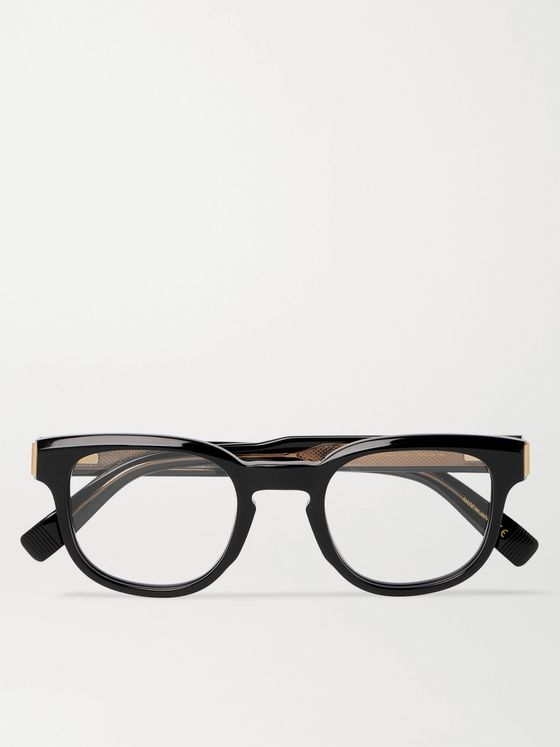 DUNHILL Square-Frame Acetate and Gold-Tone Optical Glasses