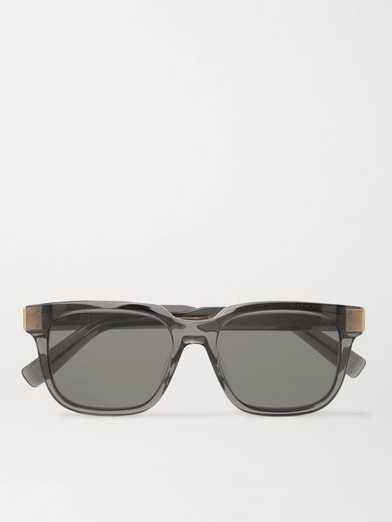DUNHILL Square-Frame Acetate and Gold-Tone Sunglasses