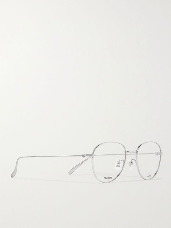 DUNHILL Round-Frame Silver-Tone Optical Glasses