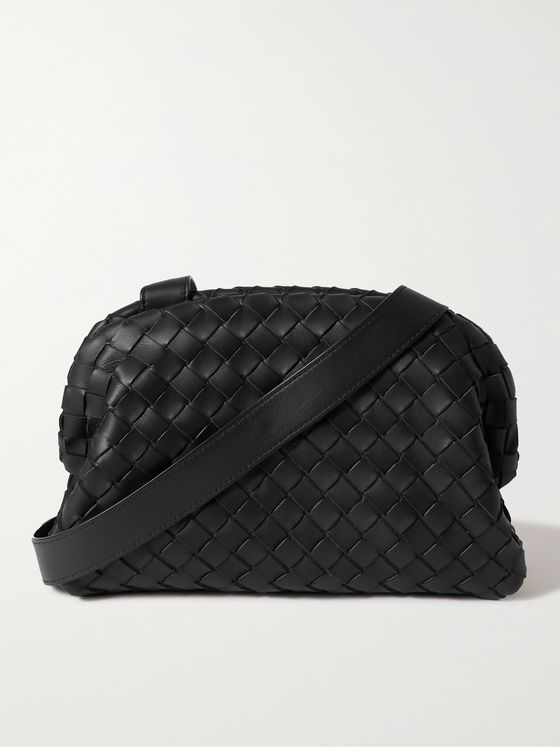 BOTTEGA VENETA Hidrology Intrecciato Leather Messenger Bag