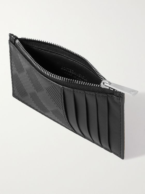 BOTTEGA VENETA Intrecciato-Debossed Zipped Cardholder