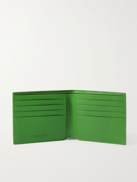 BOTTEGA VENETA Intrecciato-Embossed Leather Billfold Wallet