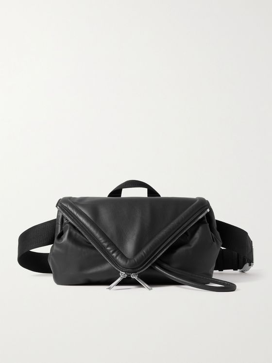 BOTTEGA VENETA Hidrology Leather Messenger Bag