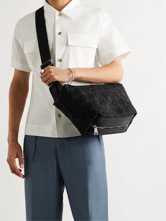 BOTTEGA VENETA Intrecciato Canvas Messenger Bag