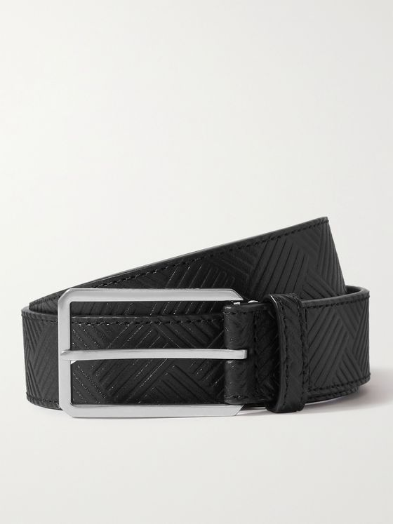 BOTTEGA VENETA 3cm Intrecciato-Debossed Leather Belt