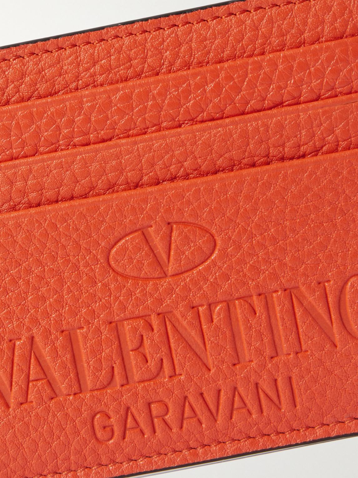 VALENTINO Cardholders VALENTINO GARAVANI LOGO-DEBOSSED FULL-GRAIN LEATHER CARDHOLDER