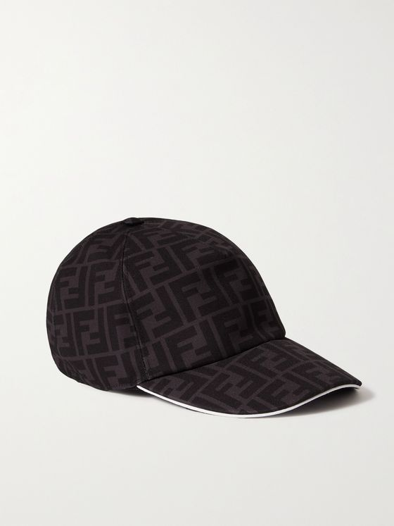 FENDI Logo-Print Canvas Baseball Cap