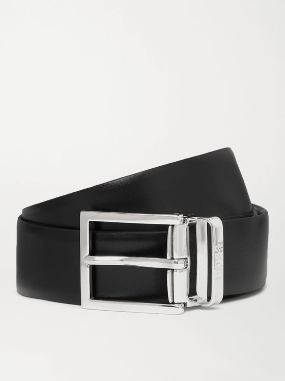 HUGO BOSS 3cm Reversible Leather Belt