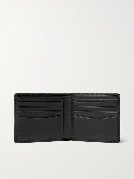 HUGO BOSS Pebble-Grain Leather Billfold Wallet