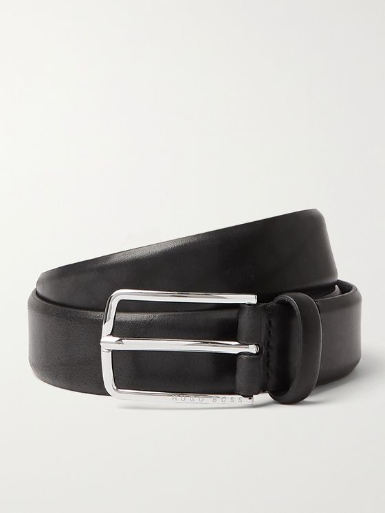 HUGO BOSS 3cm Leather Belt