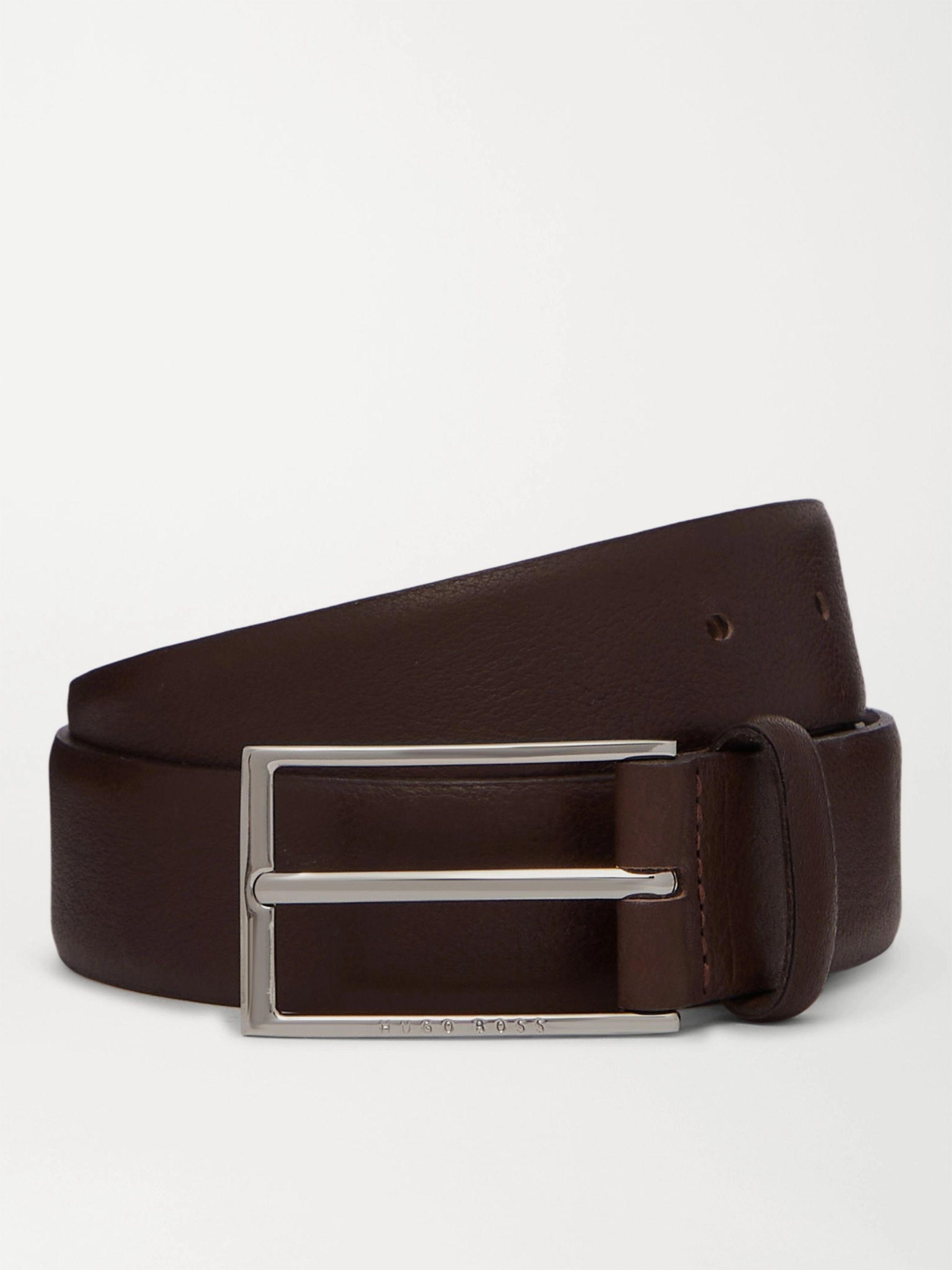 HUGO BOSS 4cm Full-Grain Leather Belt