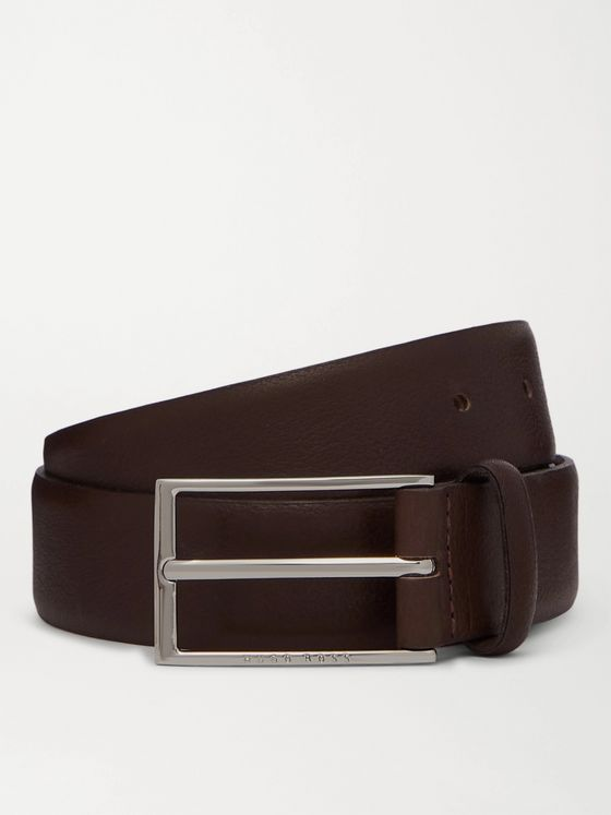 HUGO BOSS 4cm Full-Grain Leather Belt