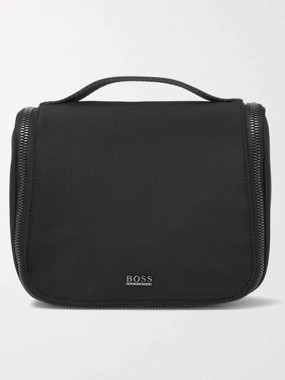 HUGO BOSS Webbing-Trimmed Canvas Wash Bag