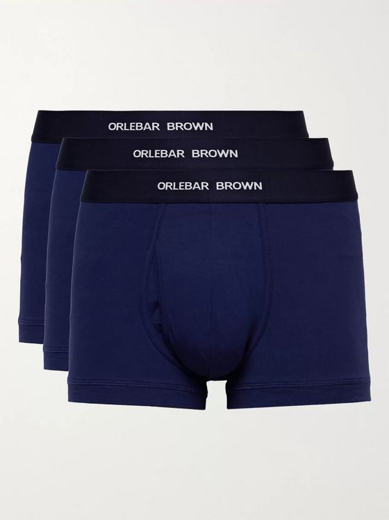 ORLEBAR BROWN Three-Pack Stretch-Cotton Boxer Briefs
