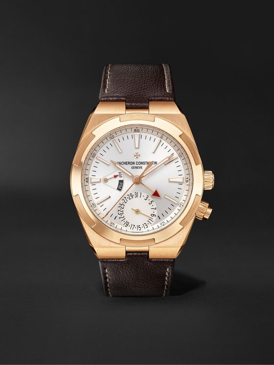 VACHERON CONSTANTIN Overseas Dual Time Automatic 41mm 18-Karat Pink Gold and Alligator Watch, Ref. No. 7900V/000R-B336