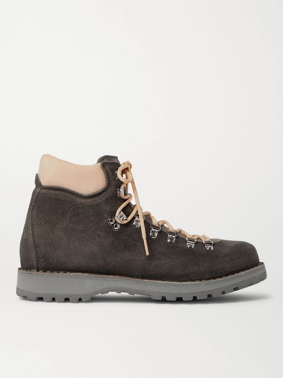 DIEMME Roccia Vet Leather-Trimmed Suede Hiking Boots