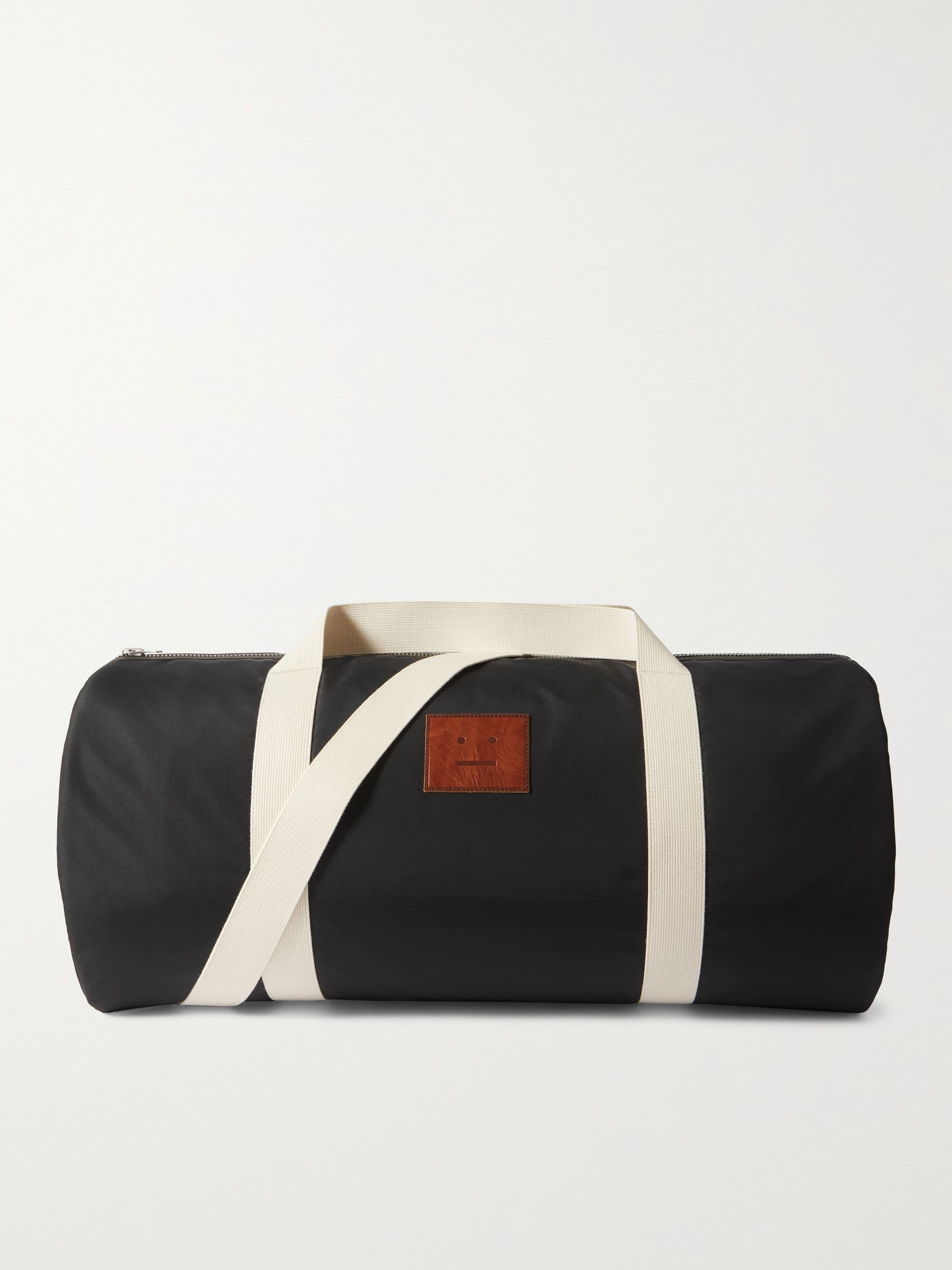 아크네 스튜디오 더플백 Acne Studios Logo-Appliqued Shell Duffle Bag,Black