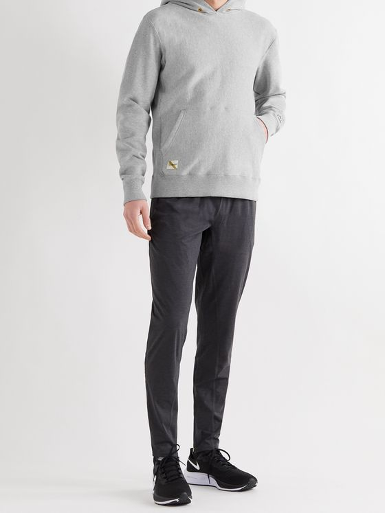 TRACKSMITH Trackhouse Mélange Fleece-Back Cotton-Blend Jersey Hoodie