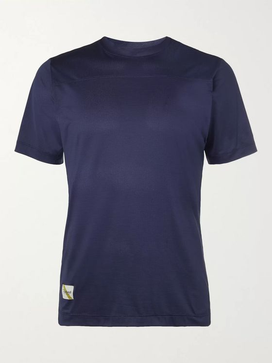 TRACKSMITH Twilight Logo-Appliquéd Stretch-Mesh T-Shirt