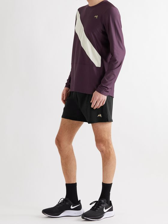 TRACKSMITH Session Appliquéd Stretch-Jersey Shorts