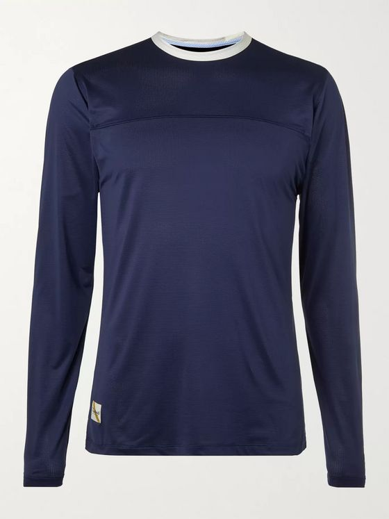 TRACKSMITH Twilight Slim-Fit Logo-Appliquéd Stretch-Mesh T-Shirt
