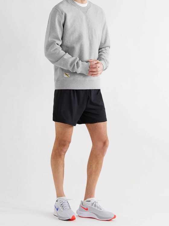 TRACKSMITH Trackhouse Mélange Loopback Cotton-Blend Jersey Sweatshirt