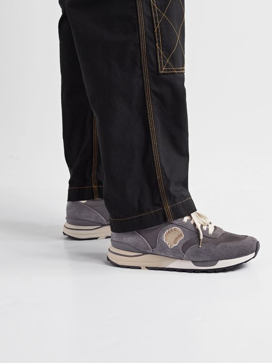 VISVIM Roland Suede and Mesh Sneakers