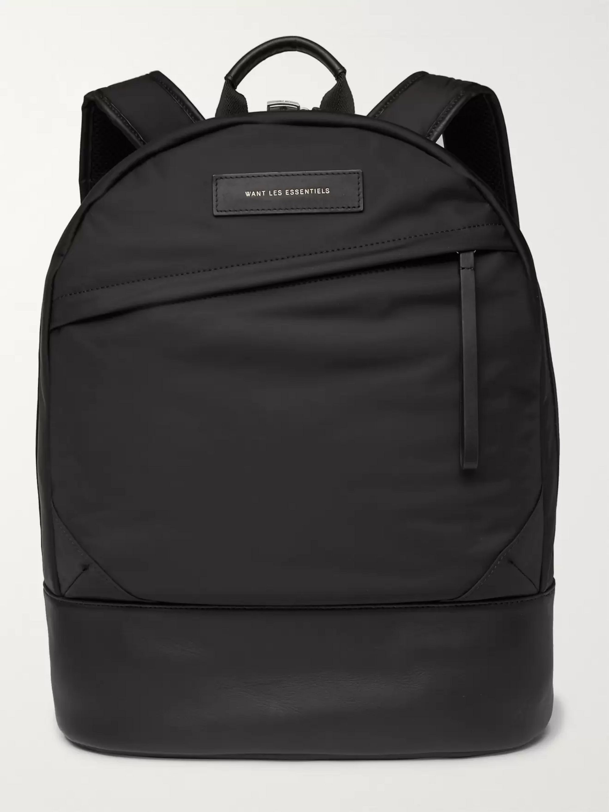 WANT LES ESSENTIELS Kastrup Leather-Trimmed Shell Backpack