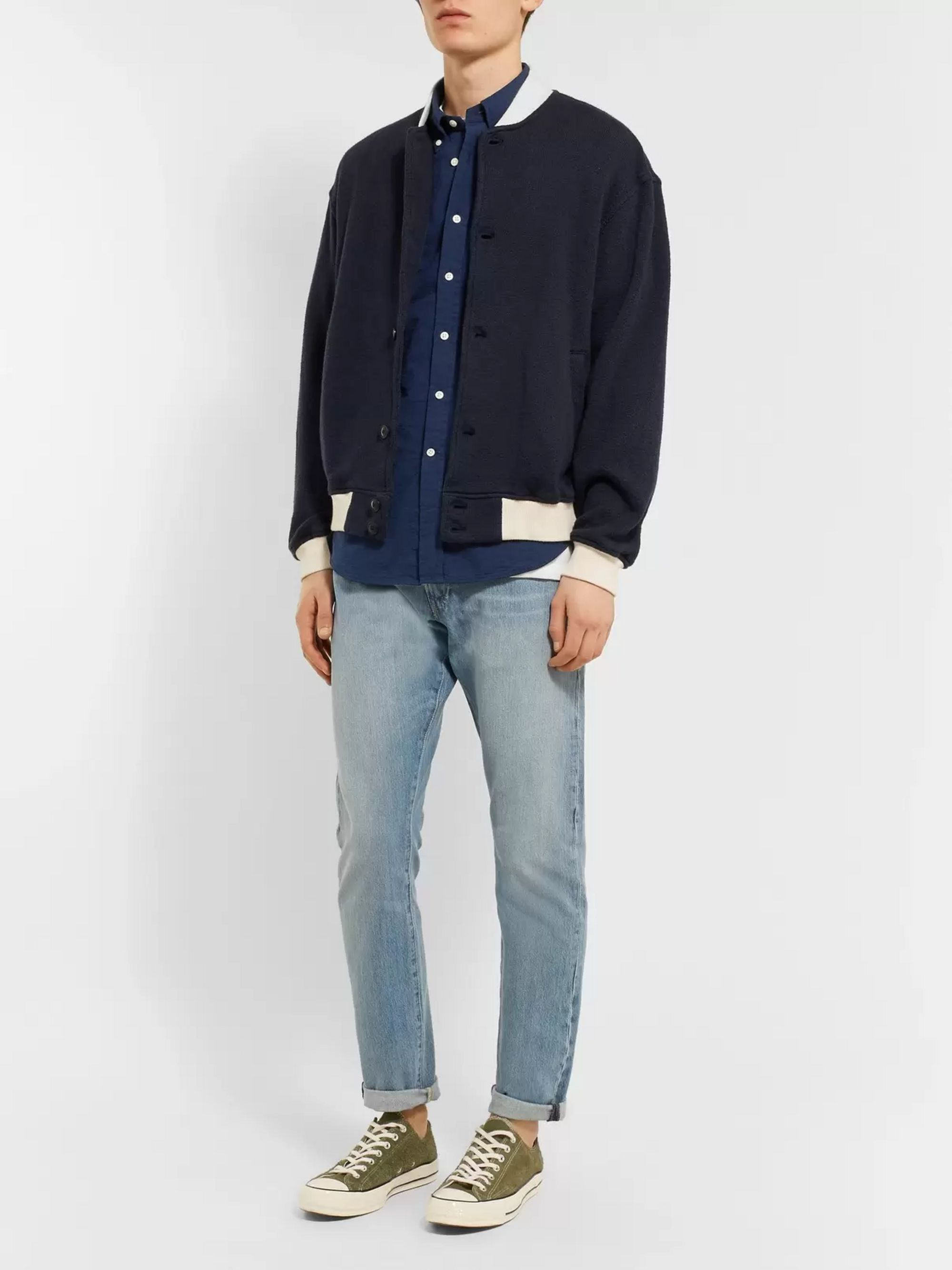 ralph lauren seersucker shirt navy