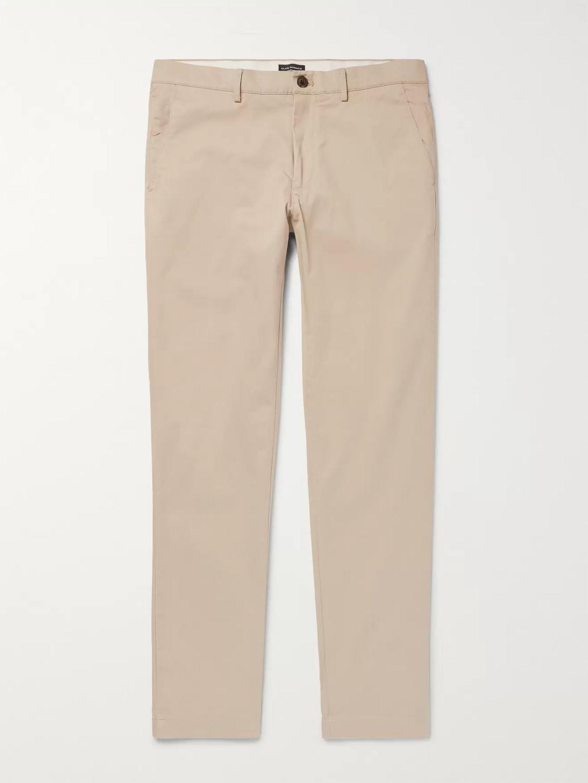 Club Monaco Connor Slim Fit Stretch Cotton Chino Pants In Khaki