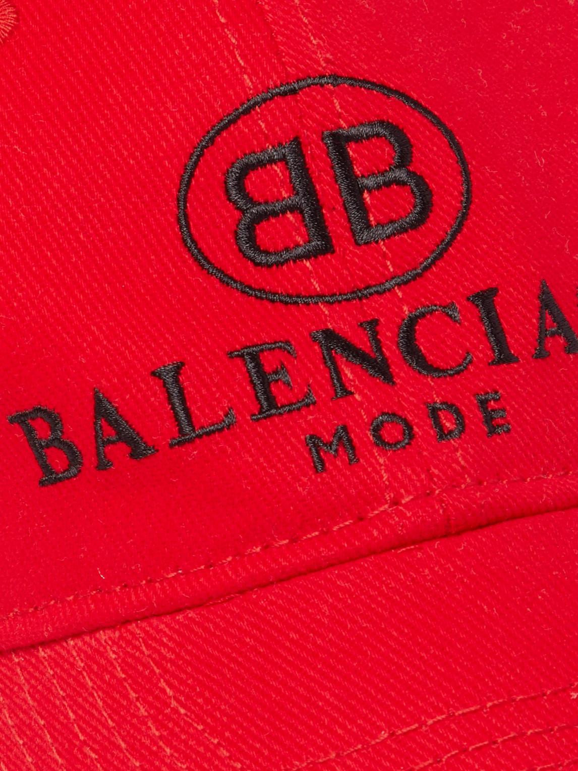Balenciaga Accessories LOGO-EMBROIDERED COTTON BASEBALL CAP