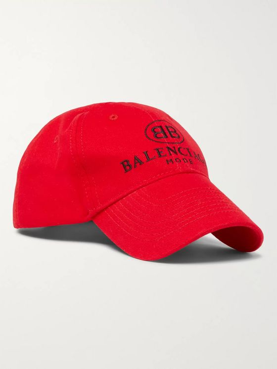 Balenciaga Logo-Embroidered Cotton Baseball Cap