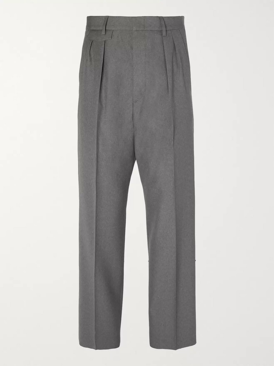 746e8bf12 Dark gray Wide-Leg Pleated Wool Trousers | Gucci | MR PORTER
