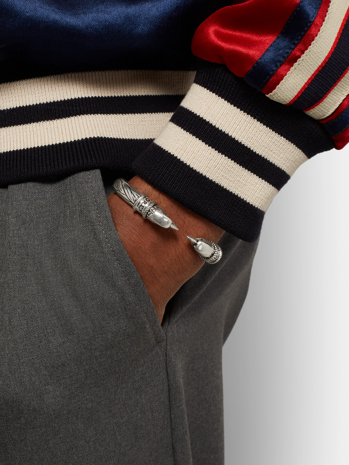 Gucci Accessories EAGLE HEAD STERLING SILVER CUFF