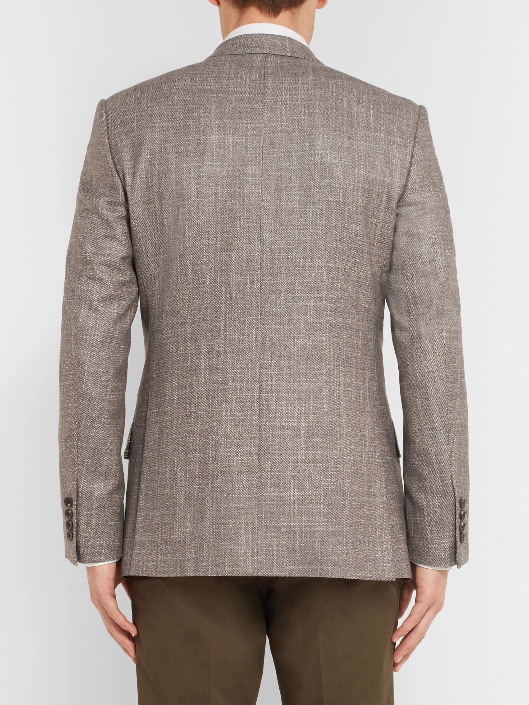 Kingsman Harry's Brown Mélange Wool, Silk and Cashmere-Blend Suit Jacket