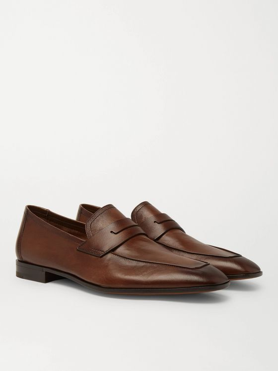 Berluti Lorenzo Leather Loafers