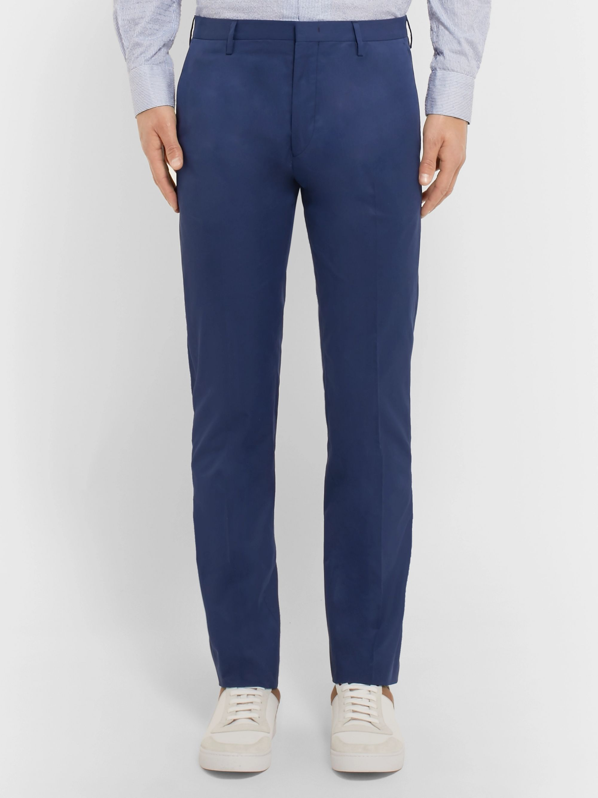 Paul Smith Royal-Blue Soho Slim-Fit Cotton Trousers