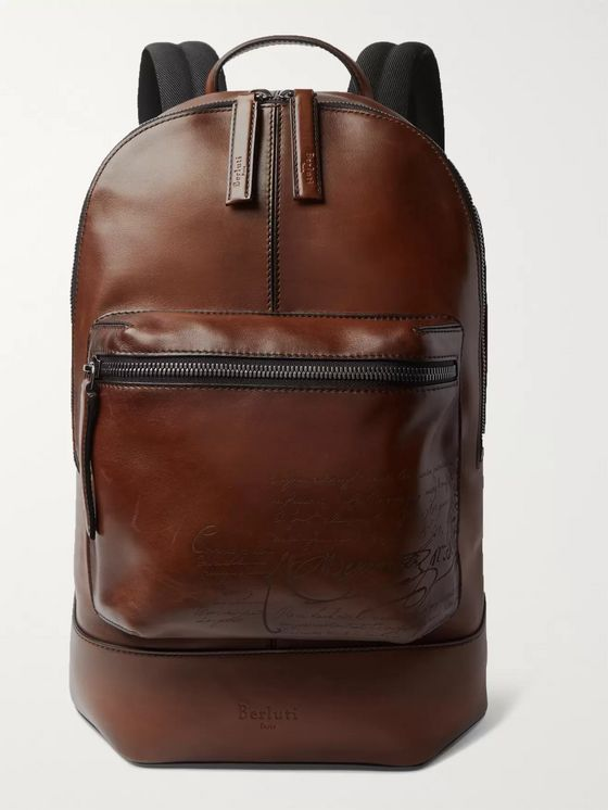 Berluti Volume Large Leather Backpack