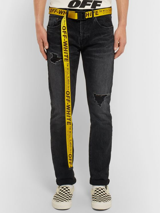 Off-White 3.5cm Yellow Industrial Canvas Belt