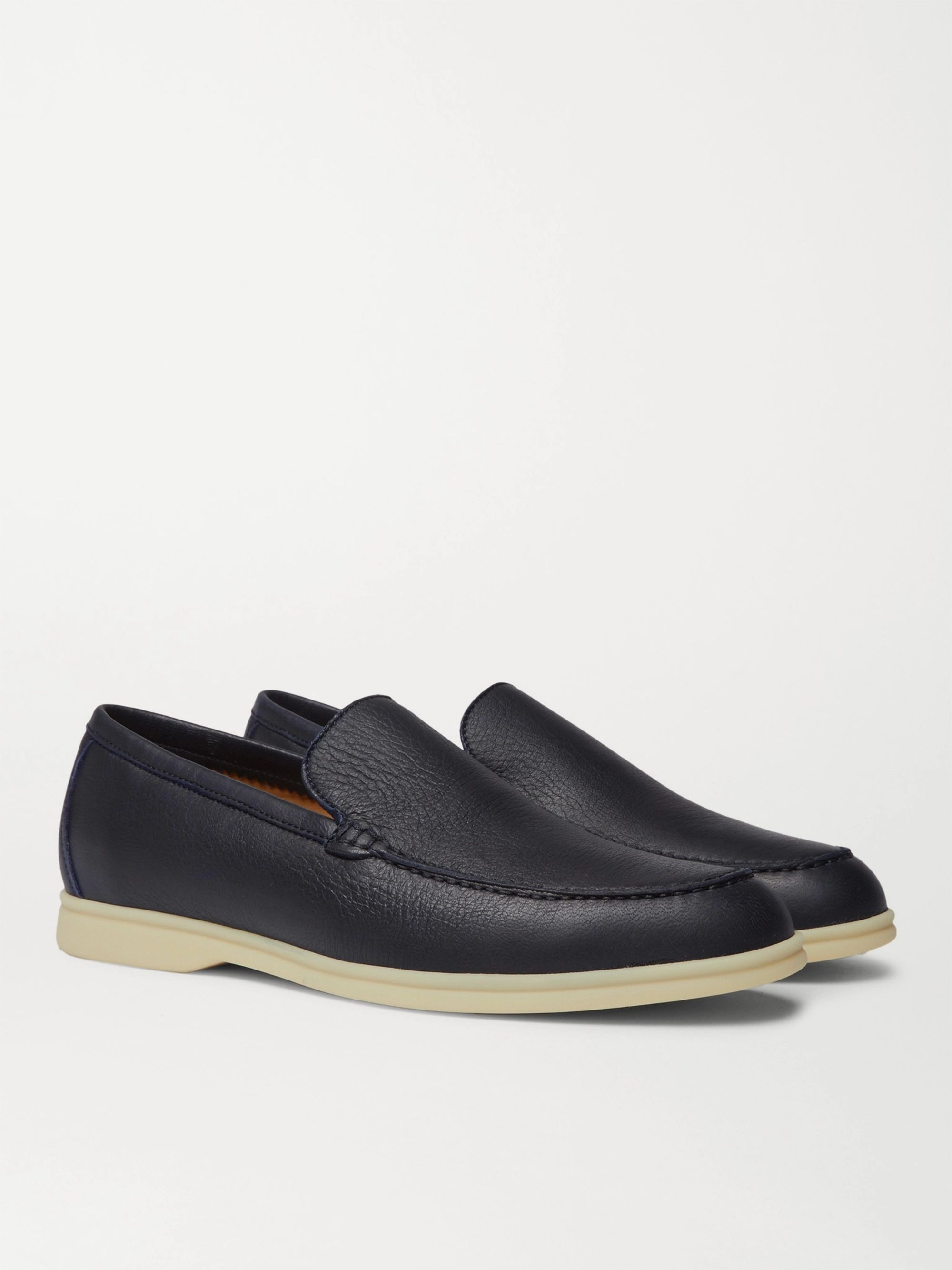 Loro Piana Summer Walk Full-Grain Leather Loafers