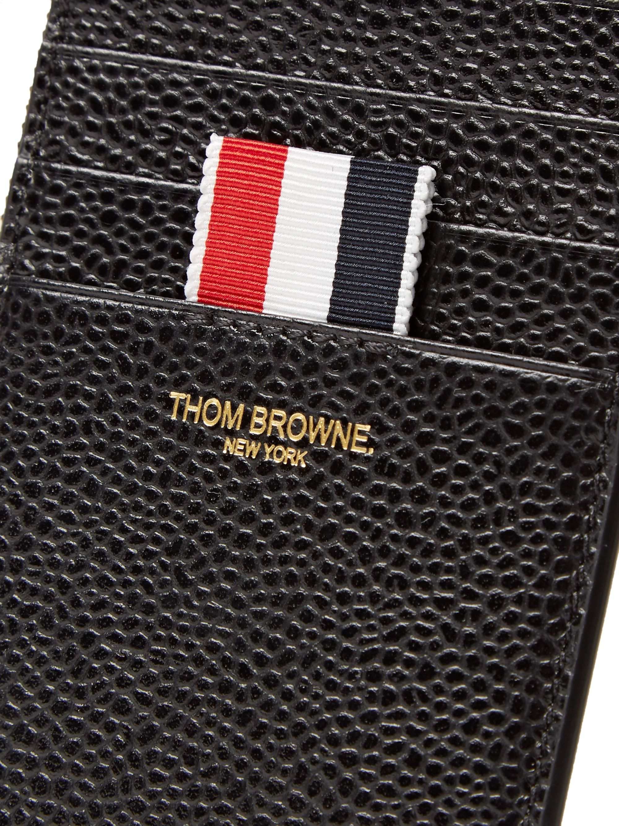 Thom Browne Pebble-Grain Leather Zip-Around Cardholder