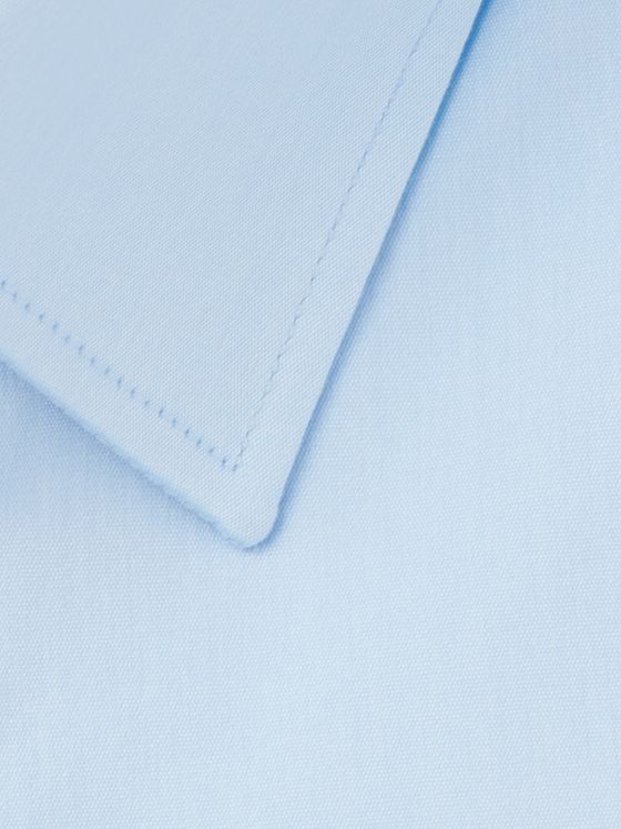 Canali Light-Blue Slim-Fit Cotton-Poplin Shirt